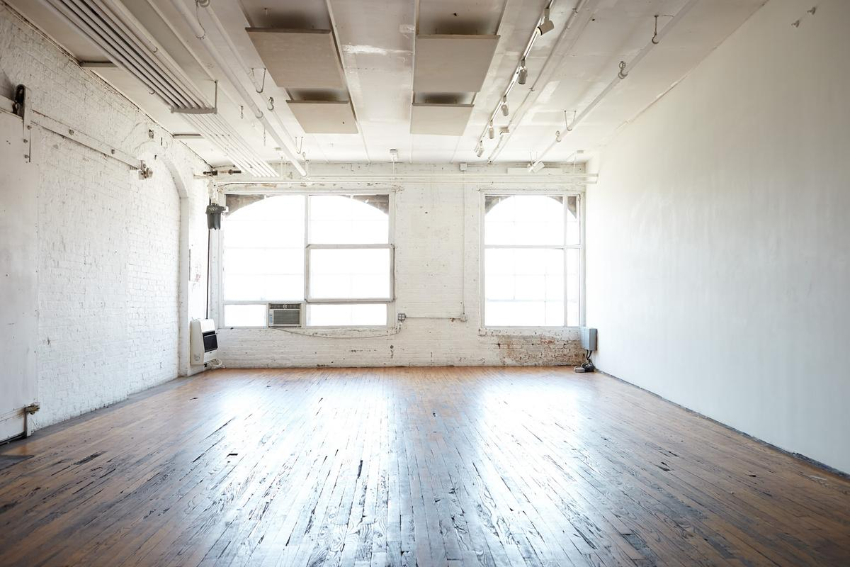 Storefront listing Bright Loft Studio in Williamsburg in Williamsburg, New York, United States.