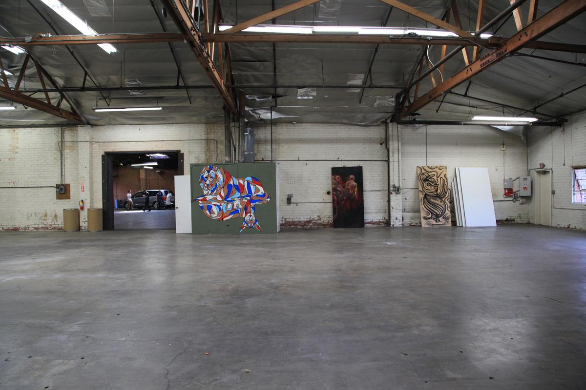 Espace Storefront Raw Studio in DTLA Arts District dans Wholesale District, Los Angeles, United States.