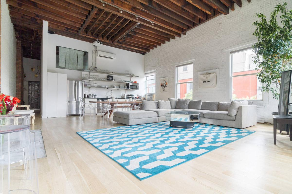 Storefront listing Bright Loft Space in Noho in East Village, New York, United States.